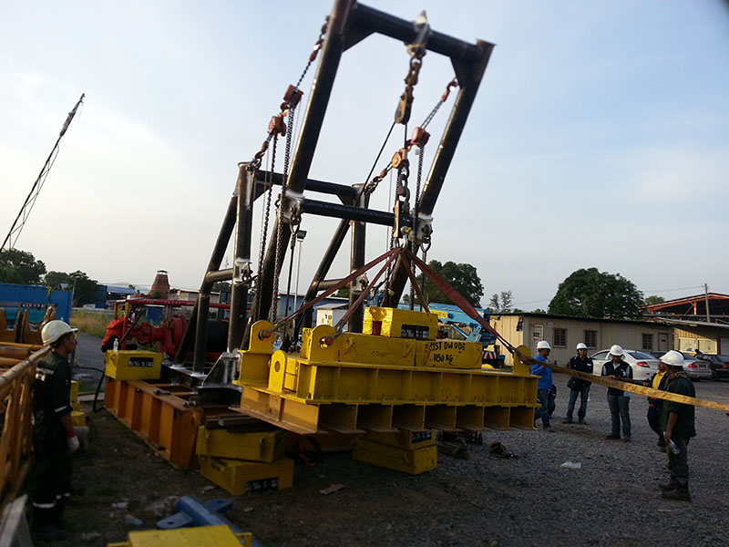 Jib Crane Testing : Load testing lifting appliances zone inspection sdn bhd